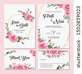 wedding invitation card premium ...   Shutterstock .eps vector #1502859023