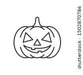 Pumpkin Icon Halloween Design...