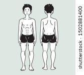 healthy human body of young men   Shutterstock .eps vector #1502881400