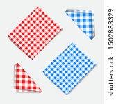 realistic vector checkered... | Shutterstock .eps vector #1502883329