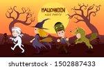 halloween themed vector... | Shutterstock .eps vector #1502887433