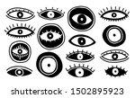 set eyes mystic hand draw... | Shutterstock .eps vector #1502895923