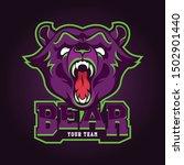 bear sport gaming logo vector... | Shutterstock .eps vector #1502901440