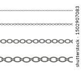 silver necklace. platinum chain ...   Shutterstock .eps vector #1502907083