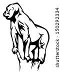 gorilla vector illustration  ... | Shutterstock .eps vector #150292334