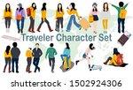 traveler charecter set for... | Shutterstock .eps vector #1502924306