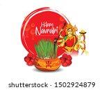happy navratri goddess durga...   Shutterstock .eps vector #1502924879