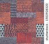 seamless bohemian pattern in... | Shutterstock .eps vector #1502928320