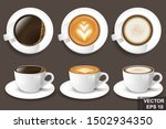 realistic coffee mug. 3d vector ... | Shutterstock .eps vector #1502934350