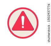 warning attention icon. warning ... | Shutterstock .eps vector #1502937776