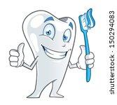 cartoon tooth holding a... | Shutterstock .eps vector #150294083
