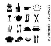 restaurant icons over white... | Shutterstock .eps vector #150295283