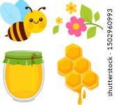 Honey Collection With Bee ...