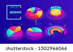 isometric business pie chart...