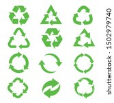 recycle icon set   recycle... | Shutterstock .eps vector #1502979740