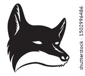 black fox sign on a white... | Shutterstock .eps vector #1502996486