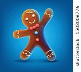 gingerbread cartoon... | Shutterstock .eps vector #1503006776