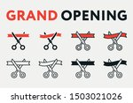 grand opening ceremony concept. ... | Shutterstock .eps vector #1503021026