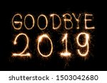 Goodbye 2019 Creative Text...