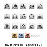 sports icons    metallic series ... | Shutterstock .eps vector #150305504