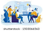 team planning project and doing ... | Shutterstock .eps vector #1503066563