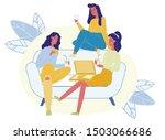 hen party  female friendship... | Shutterstock .eps vector #1503066686