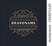 luxury logo template elegant... | Shutterstock .eps vector #1503071120