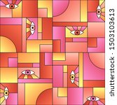 Futuristic Pattern With Eyes I...