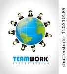teamwork design over gray... | Shutterstock .eps vector #150310589