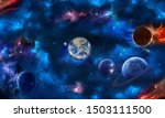 Space Scene With Planets  Star...
