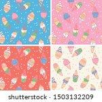 repeatable icecream pattern... | Shutterstock .eps vector #1503132209