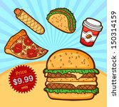 set of fast food. isolated... | Shutterstock .eps vector #150314159