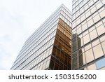 Golden Building. Windows Glass...