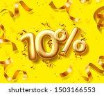 sale 10 off ballon number on... | Shutterstock .eps vector #1503166553