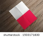 Flag Of Poland On Paper. Polan...