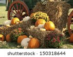 Autumn Antique Wagon And...