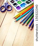 stationery for school school... | Shutterstock . vector #150322340
