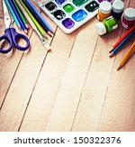 stationery for school school... | Shutterstock . vector #150322376