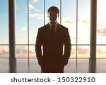 businessman standing in airport ... | Shutterstock . vector #150322910
