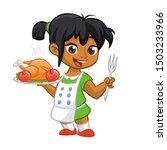 Cartoon Cute Little Arab Or...
