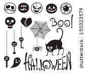 Set Happy Halloween  Emoticons...