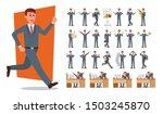 set of businessman character... | Shutterstock .eps vector #1503245870