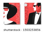 two variants of magazine cover... | Shutterstock .eps vector #1503253856
