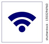 wifi vector icon blue color for ...