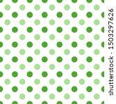 Polka Dots Texture. Green On...