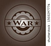 war badge with wood background | Shutterstock .eps vector #1503297776