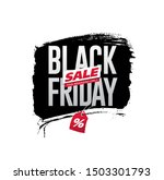 black friday sale banner layout ...   Shutterstock .eps vector #1503301793