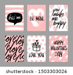 happy valentine s greeting... | Shutterstock .eps vector #1503303026