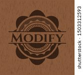 modify badge with wood... | Shutterstock .eps vector #1503312593