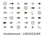 set of black vector arrows.... | Shutterstock .eps vector #1503323189